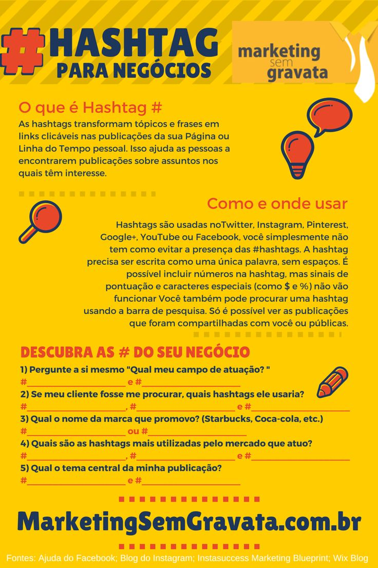 Como descobrir e usar as melhores hashtags para divulgar sua ideia ou negócio.  via: marketingsemgravata   #marketindigital #brasil #modernistablog