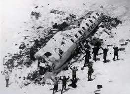 1972 Andes plane crash site and survivors. They survived for 72 days in the Andes Mountains after their plane crashed.