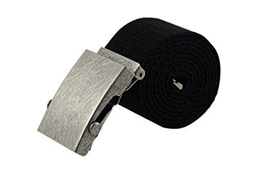 Echt Leder Gürtel 4 cm Herren Damen Ledergürtel bis 115 cm Kürzbar Jeans Schwarz