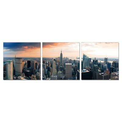 Latitude Run 'Empire State at Sunset' Photographic Print Multi-Piece Image on Canvas