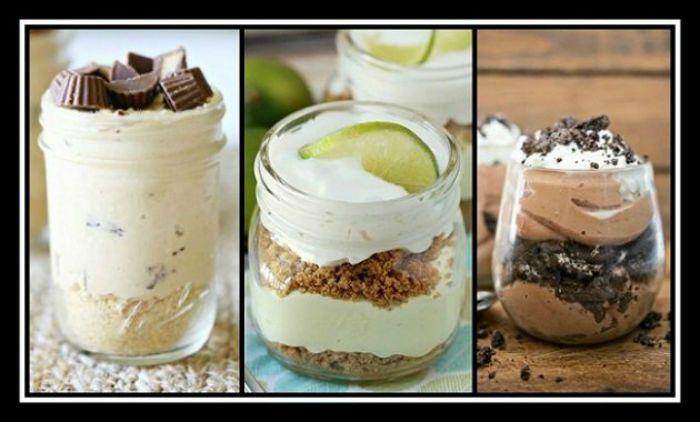 3 Συνταγές χωρίς ψήσιμο για γλυκά σε βαζάκια!  Τα γλυκά σε βαζάκια είναι η νέα μόδα σερβιρίσματος και μπορείς να βάλεις τα πάντα μέσα. Στην αρχή μπορεί να μας φαινόταν πολύ περίεργο το να προσφέρουμε το