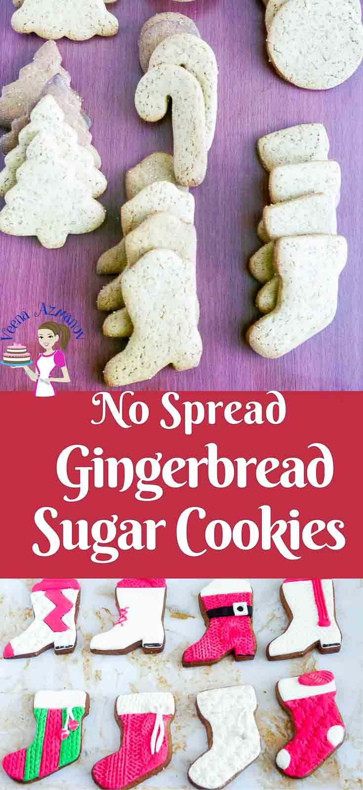 These Gingerbread Sugar Cookies are perfect for this time of the year weather you want to eat them as is or decorate them. Unlike regular gingerbread cookies these do not spread which makes them perfect for decorating with fondant and adding them to the cookie hamper. via @Veenaazmanov  #christmas #cookies #gingerbread #cookierecipe #recipe #baking #nospread #holiday #gingerbreadcookies #veenaazmanov
