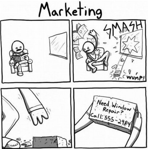 @Megan Osborne Is this what Anitsal teaches in your upper division marketing classes? Baha!