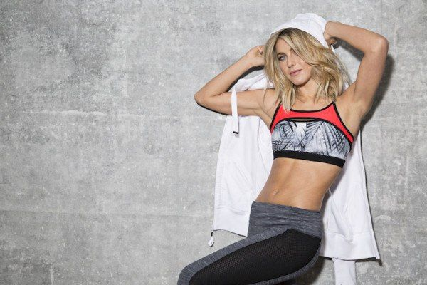 Julianne Hough's new workout line features leggings made from coffee