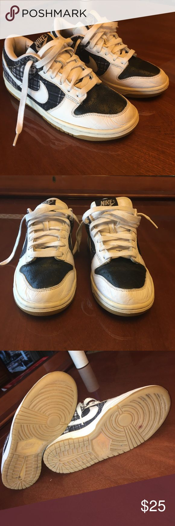 Nike low dunks plaid tennis Active Skate shoes Great condition; hard to find low rise dunks! Nike Shoes Sneakers