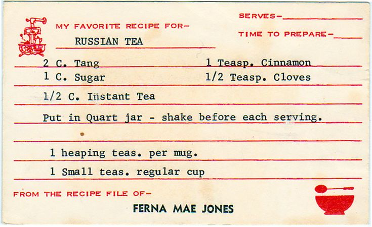 Russian Tea: i loved this growing up!  can you still buy tang?
