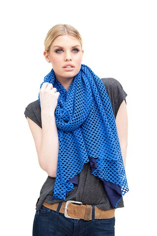 ROYAL BLUE CUTOUT WRAP WITH JERSEY