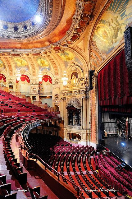 Chicago #Theatre by Songquan Deng--We could sit in the very last seat, at the very top and STILL be happy.