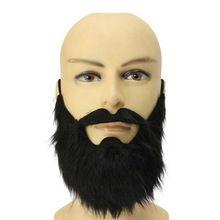 Fancy Dress Pirate Dwarf Elf Fake Beards Halloween Costume Party Moustache Black #69338(China (Mainland))