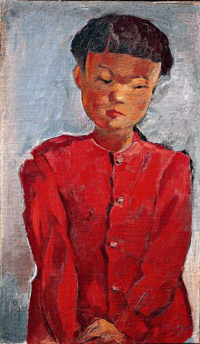 李仁星(イ·インソン) Girl_1940년대 Oil on canvas_44.7×26.5㎝ Lee In sung