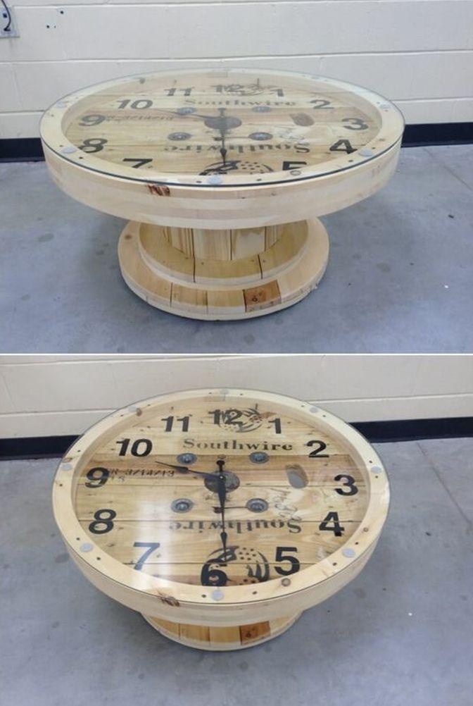 1001 Idees Astuces Brico Pour Creer Une Table En Touret Tables A Tiroir En Bois Tables A Tiroir Table Basse Touret
