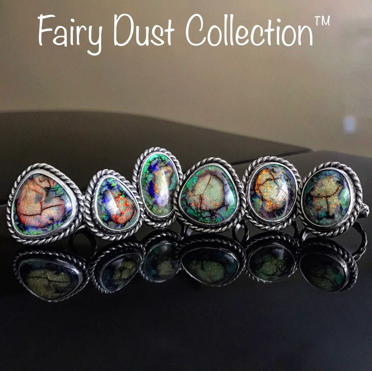 Monarch Opal Ring - Cultured Opal - GIA Certified - Silver Jewelry - Fairy Dust Collection by MBWJewelry on Etsy https://www.etsy.com/listing/501956818/monarch-opal-ring-cultured-opal-gia