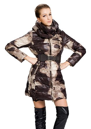 Joyce/camouflage surface(90% goose filler)/middle down coat