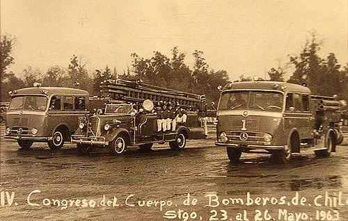 https://flic.kr/p/57PHTC | bomberos parque Cousiño 1963 | Parque Cousiño, santiago de Chile 1963