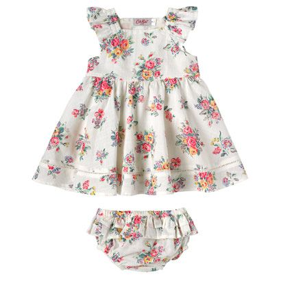 Highgate Rose  Baby Frill Dress With Briefs