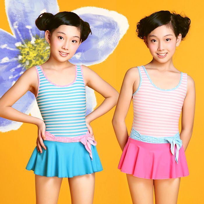 Children Girl One-pieces Swimwear Brand New High Quality Girl's Bathing Suit Pool Spa Swimsuit for Girl 8-16 Years Old