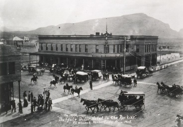 The Irma Hotel in Cody, Wyoming built by William F Cody in 1902. One of the scenes in The Duke & the Cowgirl takes place here (and I was fortunate enough to stay in Cody's own suite while researching this book).