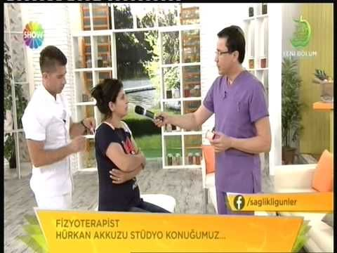 Ünlü Fzt Hürkan AKKUZU, Show Tv 'de Ameliyatsız Boyun - Bel ağrılarına yönelik UYGULAMALAR - YouTube