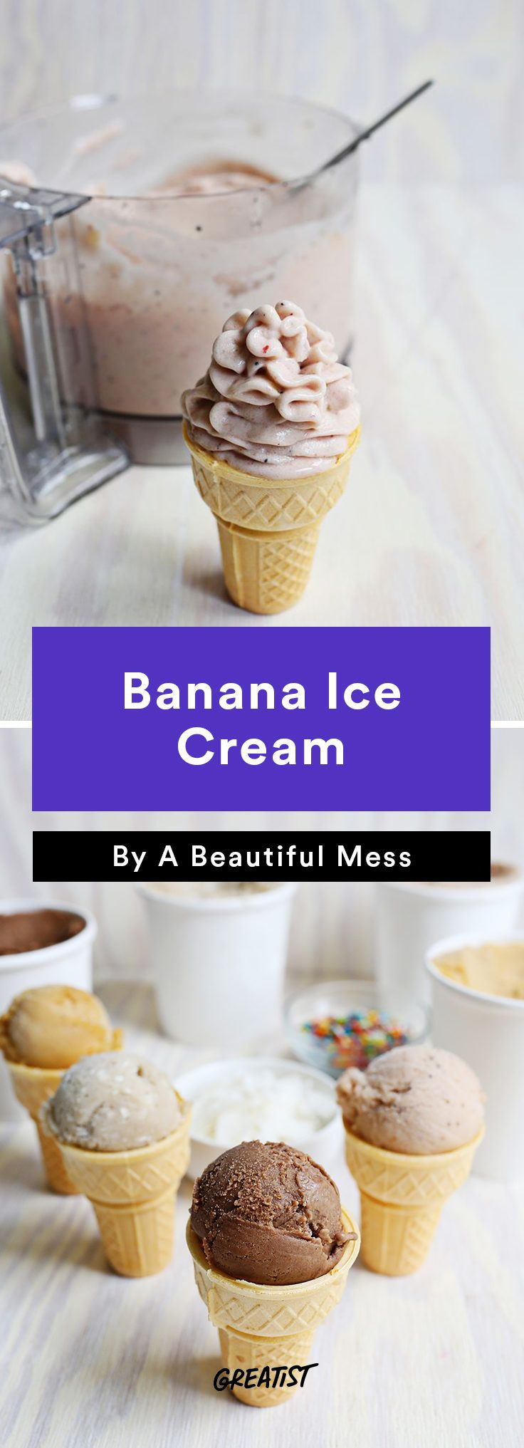 4. Banana Ice Cream #greatist http://greatist.com/eat/easy-three-ingredient-desserts