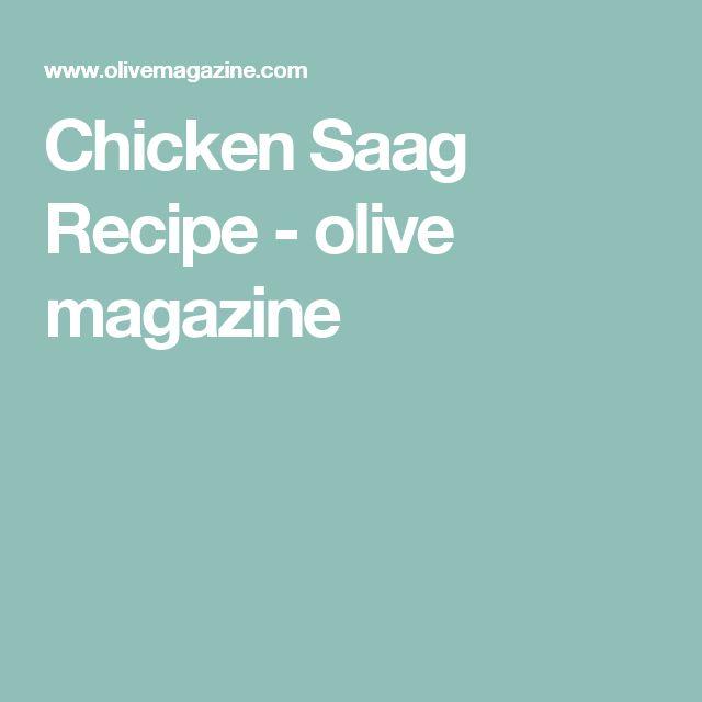 Chicken Saag Recipe - olive magazine
