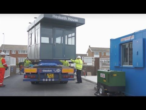 Glasdon | Construction & Delivery | Warrior™ modular steel building - YouTube http://www.youtube.com/watch?v=w7u3A4nLEa4