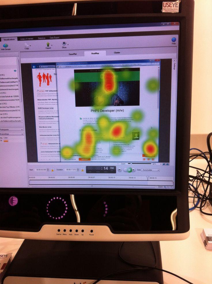 """So sieht eine """"eye-getrackte"""" Stellenanzeige aus. Gesehen bei Jobware auf der Zukunft Personal #ZP14"""