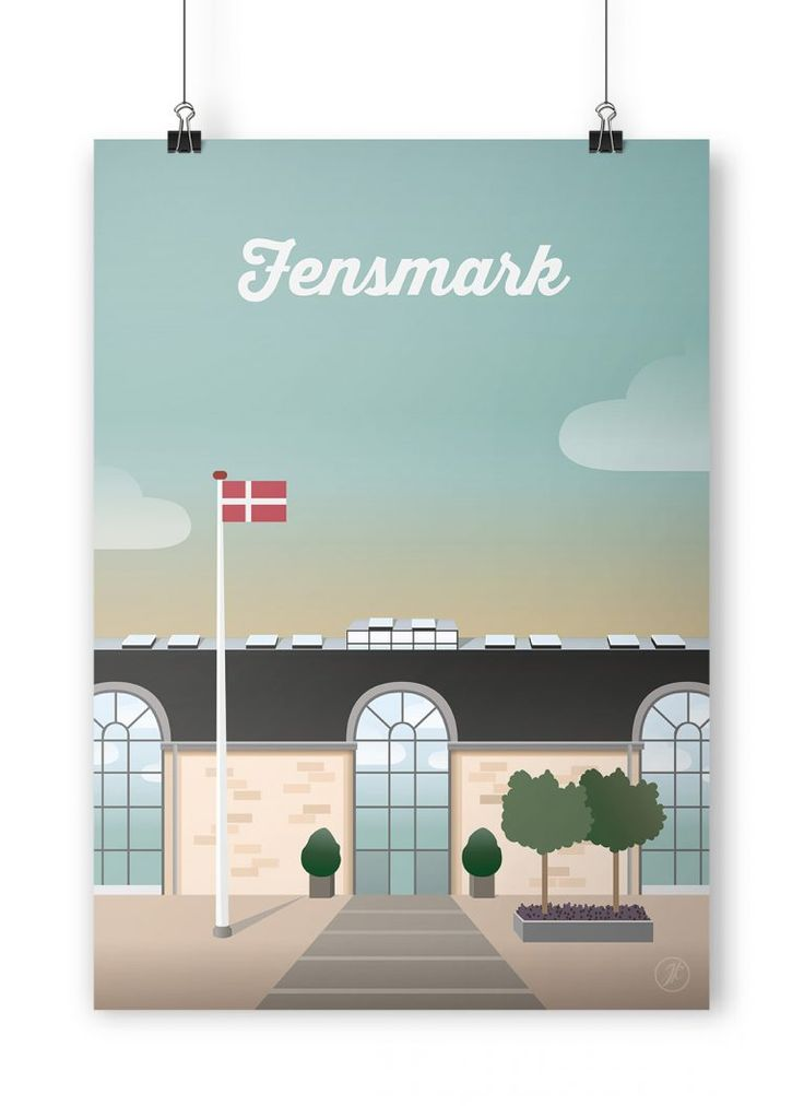fensmark  illustration grafisk danmark illustrator plakat poster adobe design interior artwork