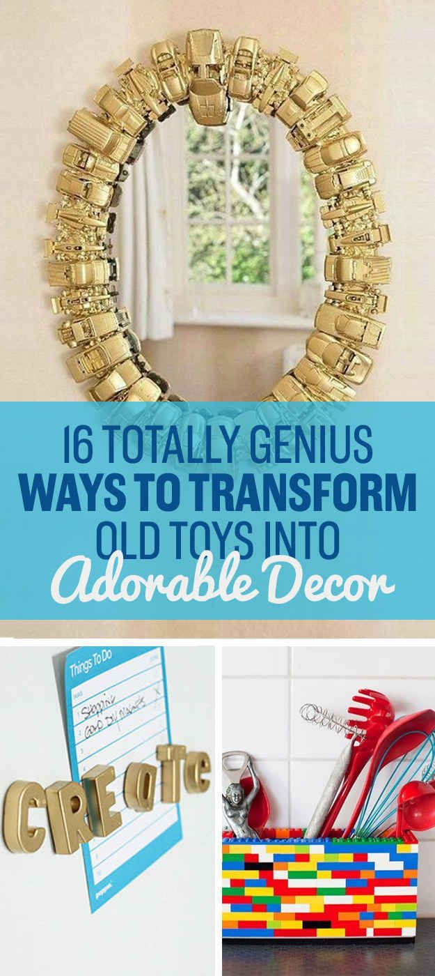 16 DIYs You Can Make With Old Toys Because Growing Up Is Overrated