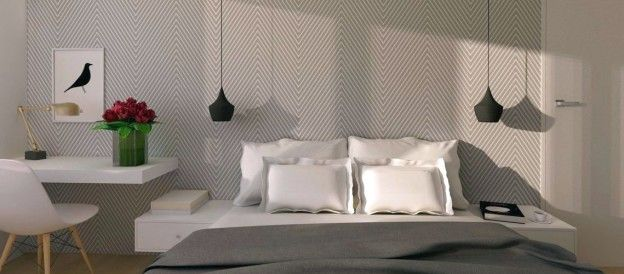 Bedroom Makeover - Extra Tips for Extra Tiny Interior How to change dull tiny room into modern and  bright  #elegant #bedroom? Read whole article incl. before photos and 2 versions of design proposal!