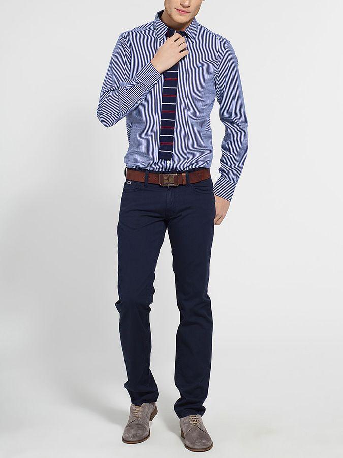 Niebieska koszula męska w paski GAS 169 PLN  #sale #limango #men #fashion