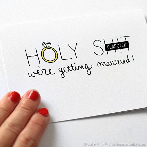 Wedding Card For Groom. Engagement Announcement. von JulieAnnArt, $4.00