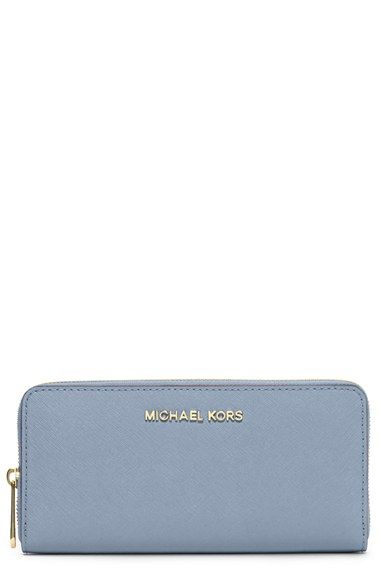 MICHAEL+Michael+Kors+'Jet+Set'+Saffiano+Zip+Around+Wallet+available+at+#Nordstrom