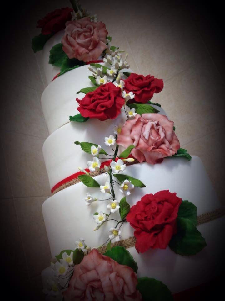 Cake 18 anni peonie