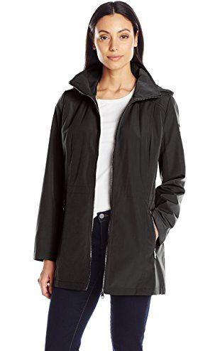Calvin Klein Womens Softshell Anorak with Quilted Lining Black XSmall --  Continue to the product at the image link.