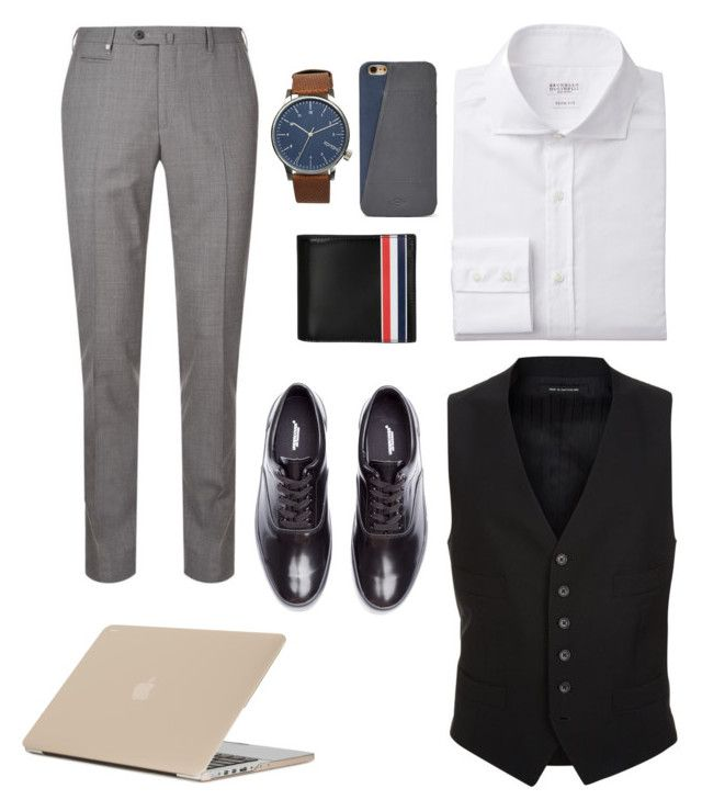 Corporate Heir by chocofit on Polyvore featuring polyvore, Corneliani, Tom Ford, Undercover, Komono, Thom Browne, Moshi, FOSSIL, men's fashion, menswear and clothing