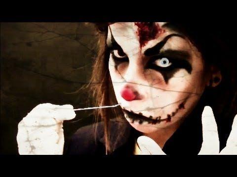 † HALLOWEEN : Maquillaje payaso diabólico (Killer Clown Makeup) - YouTube