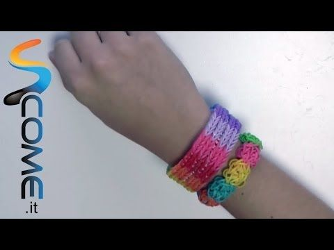 Tutorial braccialetti elastici fishtail con Rainbow loom - YouTube