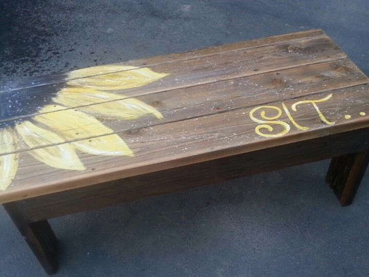 Sunflower bench-just a picture