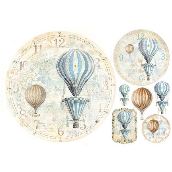 Stamperia Ριζόχαρτο Decoupage 48X33 cm Αερόστατα