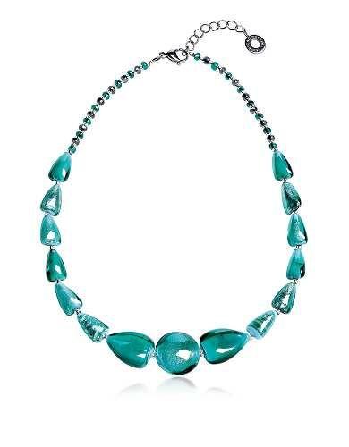 Prezzi e Sconti: #Marina collana turchese in vetro minerale  ad Euro 79.00 in #Gioielli collane #Moda