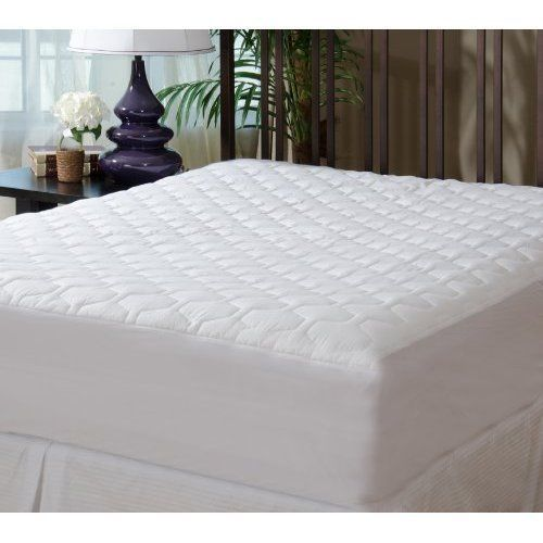 fitted quilted mattress pad queen size bed protector stretchable deep pockets