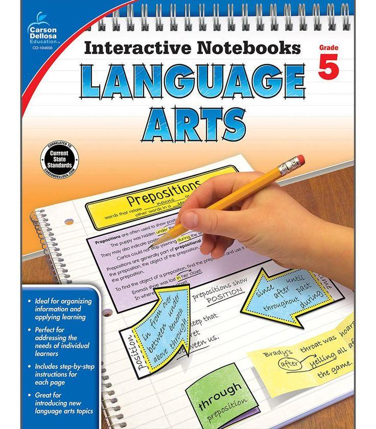 Interactive Notebooks: Language Arts Resource Book Fifth Grade