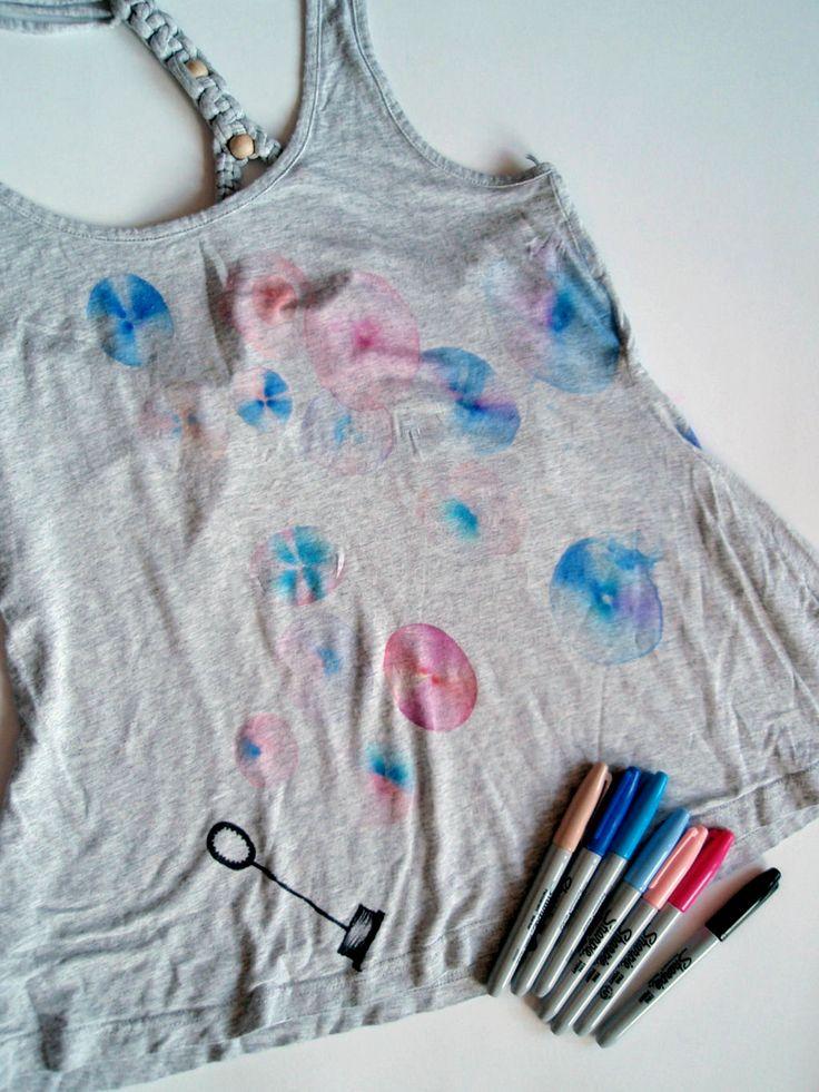 DIY seifenblasen t-shirt