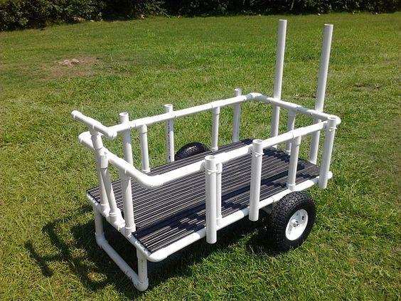25 unique beach cart ideas on pinterest beach cart for Pvc fishing cart