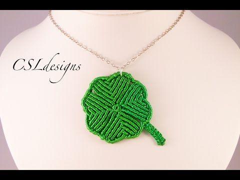 Macrame four leaf clover - YouTube