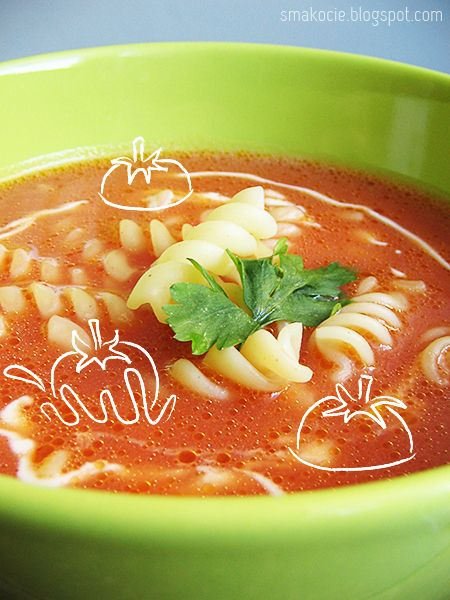 Zupa pomidorowa  Polish tomato soup... this is a vey simple, yet very yummy…