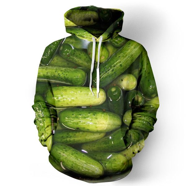 "belovedwear® presents the #Pickle Hoodie. This ""all over"" print crewneck sweatshirt is made using a special sublimation technique to provide a vivid graphic ima"