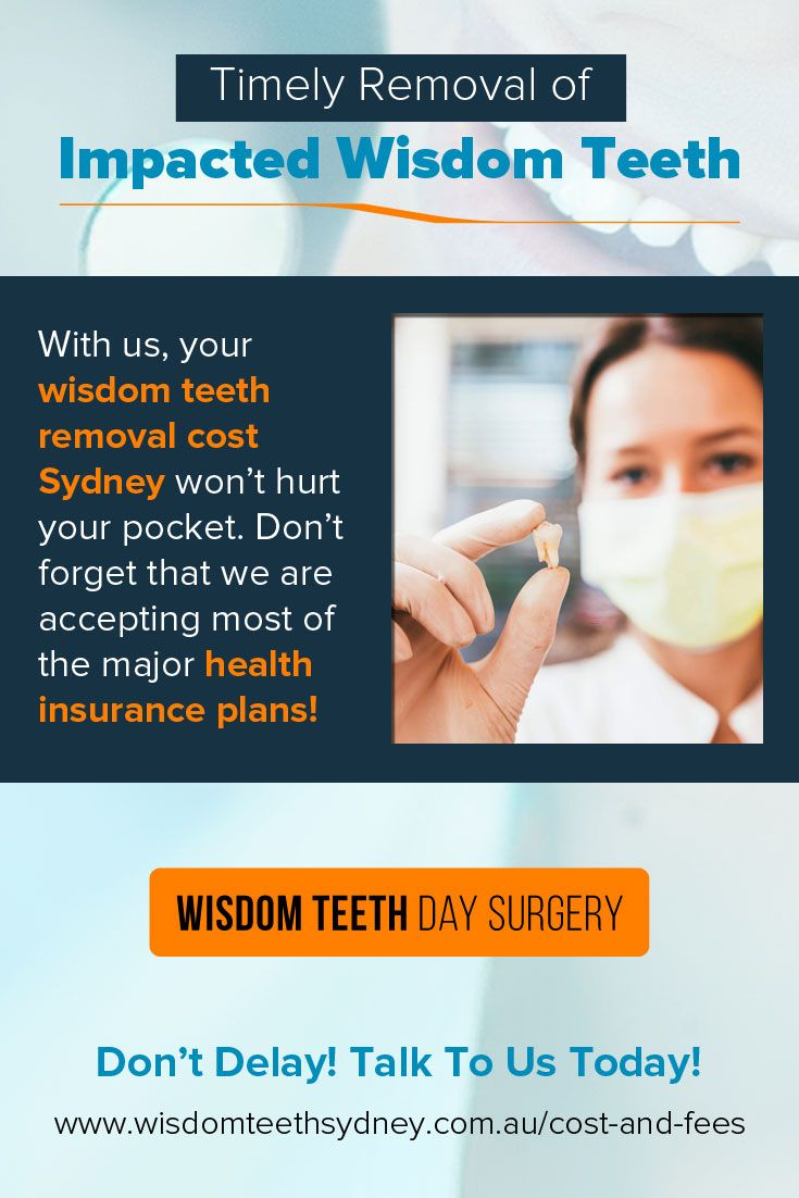With us, your #wisdom_teeth_removal_cost_Sydney won't hurt your pocket. Don't forget that we are accepting most of the major #health_insurance_plans!
