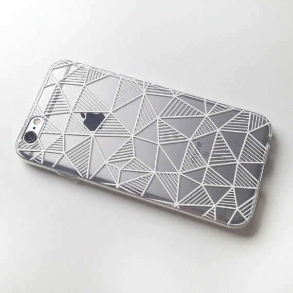 Geometric iPhone 7 Case Clear iPhone 6 case by MargaritaCase