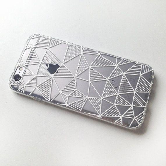 Géométrique iPhone 7 cas clair iPhone 6 cas par MargaritaCase